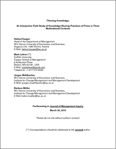exploring management consulting firms as knowledge systems pdf