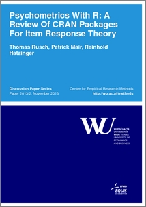 Psychometrics With R: A Review Of CRAN Packages For Item Response