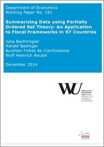 Summarizing Data using Partially Ordered Set Theory: An Application