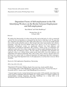 Dependent Forms Of Self Employment In The Uk Identifying Workers On